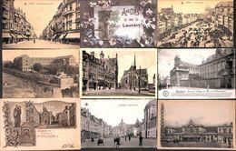 Leuven - Lot Of 19 PK's (animation, Station Gare, Cataclysme......) - Leuven