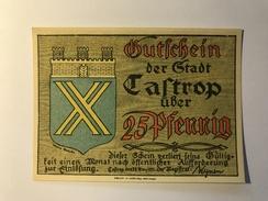 Allemagne Notgeld Castrop 25 Pfennig - [ 3] 1918-1933 : Repubblica  Di Weimar