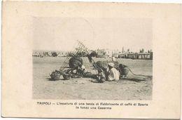 Z3759 Tripoli - Ossatura Di Una Tenda Caserma Guerra Italo Turca 1912 - Franchigia Regia Nave Incrociatore Flavio Gioia - Libye