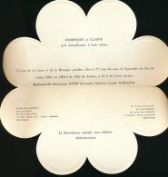 Joli Faire-part De Mariage En Forme De Fleur (Septembre 1980), D. Zanni - C. Rainaudi, Hôtel De Ville De Toulon - Boda