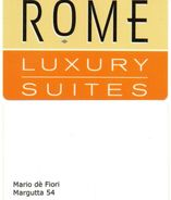 KEY CARD-ROMA--HOTEL LUXURY - Chiavi Elettroniche Di Alberghi