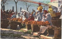 Z3760 Tripoli - Mercato Della Frutta - Guerra Italo Turca 1912 - Franchigia Regia Nave Incrociatore Flavio Gioia - Libia
