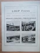 1922 - Construction Chemin De Fer LOUP à Béthisy Saint Pierre Et Essommes - Page Originale ARCHITECTURE Industrielle - Travaux Publics
