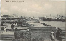 Z3762 Tripoli - Sbarco Di Materiale - Guerra Italo Turca 1912 - Franchigia Comando Distribuzione Divisione - Libia