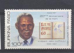 Burkina Faso 1987, Apartheid, 'Let My People Go..', Minr 1147, MNH. - Burkina Faso (1984-...)
