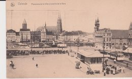 Oostende. Panorma De La Ville à La Sortie De La Gare - Oostende