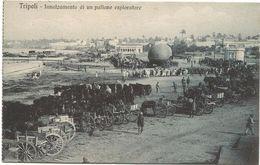 Z3764 Tripoli - Innalzamento Di Un Pallone Esploratore - Guerra Italo Turca 1912 - Franchigia Regia Nave Flavio Gioia - Libia