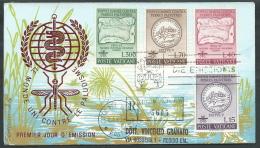 1962 VATICANO FDC RE. RU. MALARIA TIMBRO ARRIVO - KV8-2 - FDC