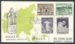 1964 VATICANO FDC RE.RU. VIAGGIO DEL PAPA INDIA TIMBRO ARRIVO - KV10-2 - FDC