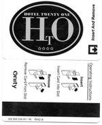 KEY CARD-ITALIA-TWENTY ONE HOTEL - Chiavi Elettroniche Di Alberghi