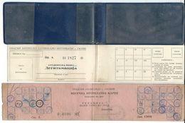Transportation Tickets.One Month Ticket. Bus.Old Ticket.Skopje Macedonia.RARE - Week-en Maandabonnementen