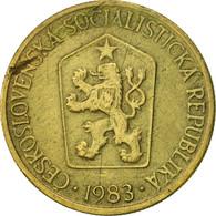 Tchécoslovaquie, Koruna, 1983, TTB, Aluminum-Bronze, KM:50 - Czechoslovakia