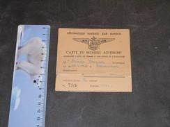 AERONAUTIQUE HAVRAISE JEAN MARIDOR-CARTE DE MEMBRE DE BIOUL Jacques/Bruxelles Pour Année 1954 - Unclassified
