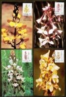 TRANSKEI, 1992, Mint Maxi Cards, Orchids, Mi 110-113 - Transkei