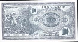 MACEDONIA P4 100 DENARI 1992   UNC. - Macédoine