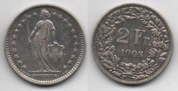 + SUISSE   + 2  FRANCS 1905 + - Svizzera