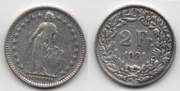 + SUISSE   + 2  FRANCS 1921 + - Suisse