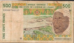 W.A.S. NIGER LETTER H P610Hi 500 FRANCS  (19)99 FINE NO P.h. ! ! - Niger