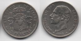 + ESPAGNE   + 2  PESETAS 1882 +TRES BELLE  + - [ 1] …-1931 : Royaume