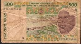 W.A.S. NIGER LETTER H P610Hh 500 FRANCS  (19)98 FINE 10 P.h. ! ! - Niger