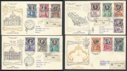 1953 VATICANO FDC VENETIA 179 PAPI E BASILICA UNA FDC NO TIMBRO ARRIVO - KV12 - FDC