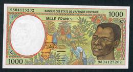 C.A.S. LETTER C CONGO  P102Ce 1000 FRANCS  (19)98   UNC. - Central African States