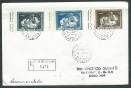 1960 VATICANO FDC NATALE TIMBRO ARRIVO - BF-2 - FDC
