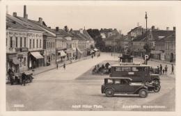 AMSTETTEN (NÖ) - Kanzler Dr.Dollfußplatz, Alte Autos, Geschäfte, Fotokarte 1936 - Amstetten