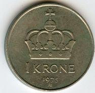 Norvège Norway 1 Krone 1975 KM 419 - Norvège