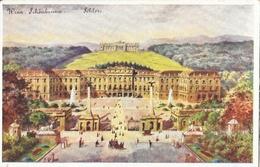 Wien - Schönbrunn Schloss Und Gloriette - Verlag Löw & Back - Carte Aquarell Kunst Non Circulée - Château De Schönbrunn