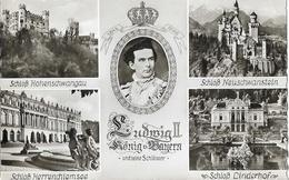 Ludwig II König Bayern Und Seine Schlosser - Multivues - Carte Non Circulée - Familles Royales