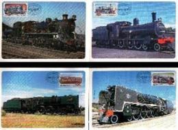 RSA, 1983, Mint Maxi Cards, MI Nr. 1-4, Locomotives - South Africa (1961-...)
