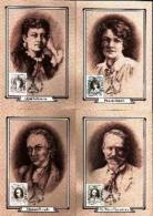 RSA, 1984, Mint Maxi Cards, MI Nr. 5-8, Writers - South Africa (1961-...)