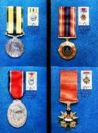 RSA, 1984, Mint Maxi Cards, MI Nr. 18-21, Military Medals - South Africa (1961-...)