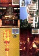RSA, 1985, Mint Maxi Cards, MI Nr. 26-29, Parliament Building - Covers & Documents
