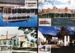 RSA, 1986, Mint Maxi Cards, MI Nr. 43-46, Historic Buildings - Covers & Documents