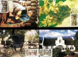RSA, 1987, Mint Maxi Cards, MI Nr. 63-66,  Paarl Winery - South Africa (1961-...)