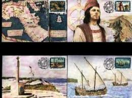 RSA, 1988, Mint Maxi Cards, MI Nr. 71-74,  Bartelomeus Diaz - Covers & Documents