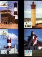 RSA, 1988, Mint Maxi Cards, MI Nr. 79-82,  Lighthouses - South Africa (1961-...)