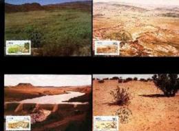 RSA, 1989, Mint Maxi Cards, MI Nr. 91-94,  Irrigation - Covers & Documents
