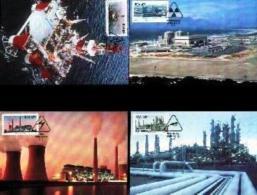 RSA, 1989, Mint Maxi Cards, MI Nr. 99-102, Energy - Covers & Documents
