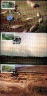 RSA, 1992, Mint Maxi Cards, MI Nr. 116-118, Environment - Zuid-Afrika (1961-...)