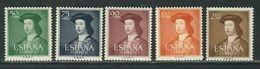 ESPAGNE N° 826 à 830 ** - 1931-Today: 2nd Rep - ... Juan Carlos I