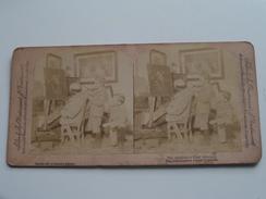 The Amateur's First Attempt / Stereo Photo Strohmeyer / Underwood ( Voir Photo Pour Detail ) ! - Photos Stéréoscopiques
