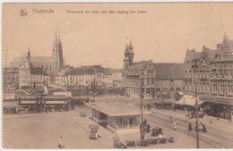Oostende. Panorama Der Stad Aan De Uitgang Der Statie - Oostende