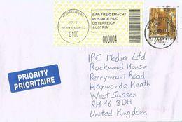 Österreich Austria 2004 Korneuburg 2100 ID:2 Barcoded EMA Postage Paid Cover - Marcofilie - EMA (Print Machine)