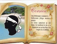 CORSICA. - Origine De Cet Emblème. CPM Livre Ouvert Découpé. Texte Explicatif à Droite - France