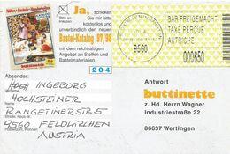 Österreich Austria 1999 Feldkirchen In Karnten 9560 ID:4 Barcoded EMA Postage Paid Card - Marcofilie - EMA (Print Machine)