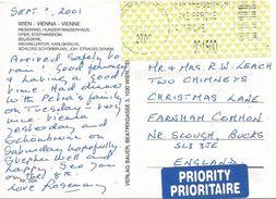 Österreich Austria 2001 Wiener Neustadt 2702 ID:1 Barcoded EMA Postage Paid Viewcard - Marcofilie - EMA (Print Machine)