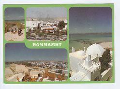 1988 TUNISA Stamps COVER (postcard HAMMAMET )  To GB - Tunisia